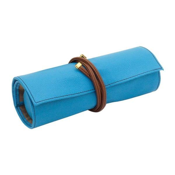 Šperkovnica Ascot Roll Azure Blue, 20x8x6 cm