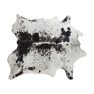 Hnedo-čierny koberec z hovädzej kože Kare Design Hide