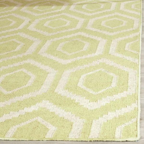 Vlnený koberec Safavieh Casablanca Lime, 153 x 243 cm