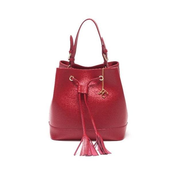 Kožená kabelka Renata Corsi 430 Rosso