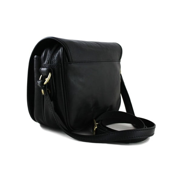 Kožená unisex taška Professional Nero