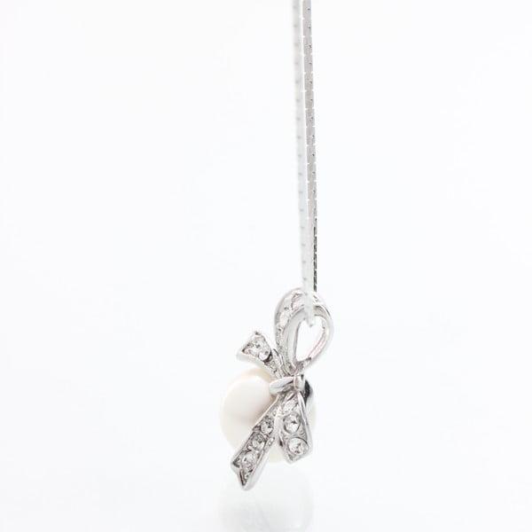 Náhrdelník Laura Bruni so Swarovski Elements Pearl Silver