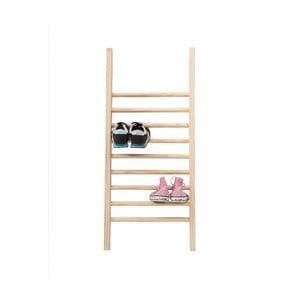 Odkladací rebrík na topánky Linen Escalera S Natural, výška 90 cm