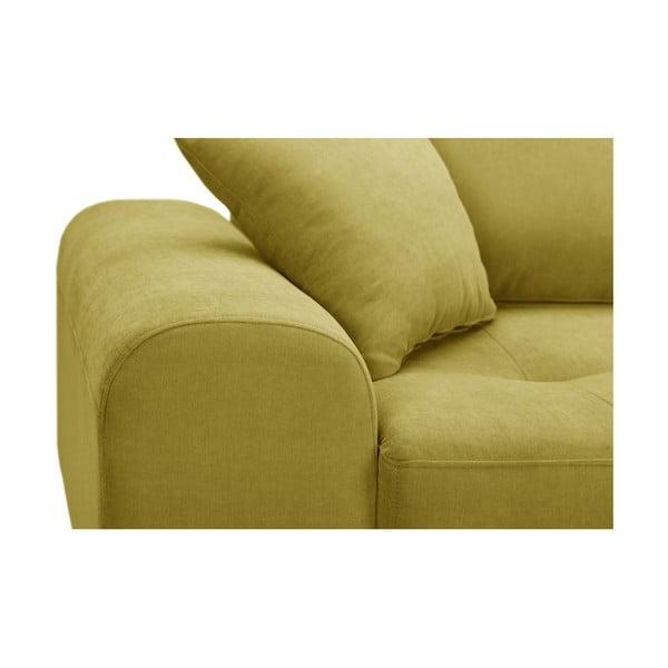 Žltá rohová pohovka Corinne Cobson Home Dillinger, pravý roh