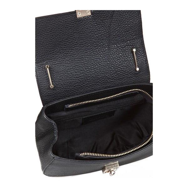 Čierna kožená kabelka Giorgio Costa Ravenna