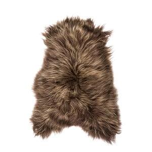 Hnedá ovčia kožušina s dlhým vlasom Chesto, 90 x 50 cm