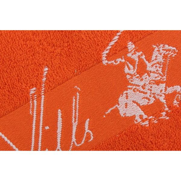 Oranžový bavlnený uterák BHPC Jacquard, 50x100cm