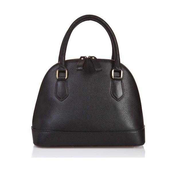 Čierna kožená kabelka Giorgio Costa Livorna