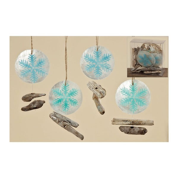 Sada 10 ks závesných dekorácií Winter Ball