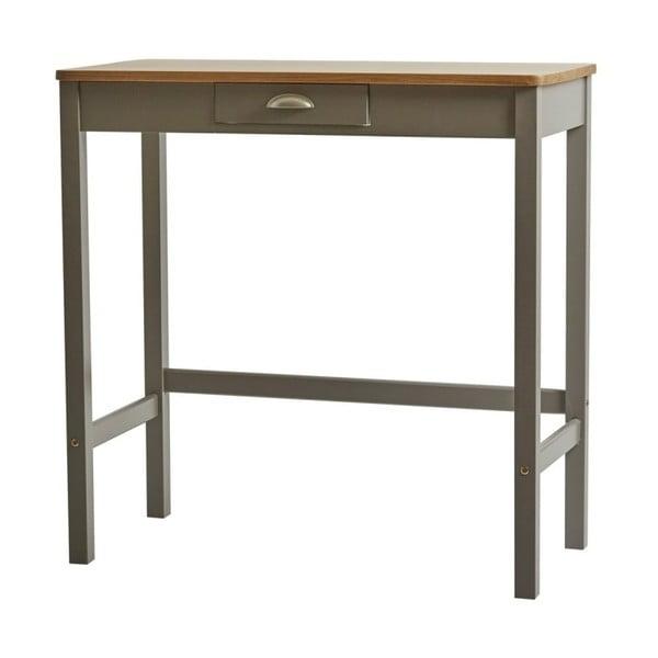 Sivý barový stolík s 2 stoličkami z masívneho borovicového dreva Marckeric Caya