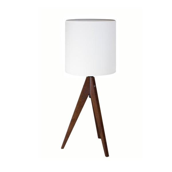 Stolná lampa Artist White / Brown, 40x25 cm
