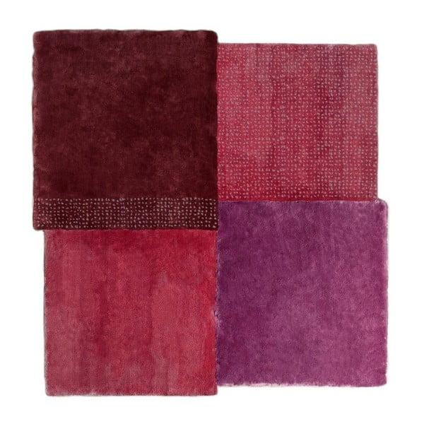 Červený koberec EMKO Over Square, 200 × 207 cm
