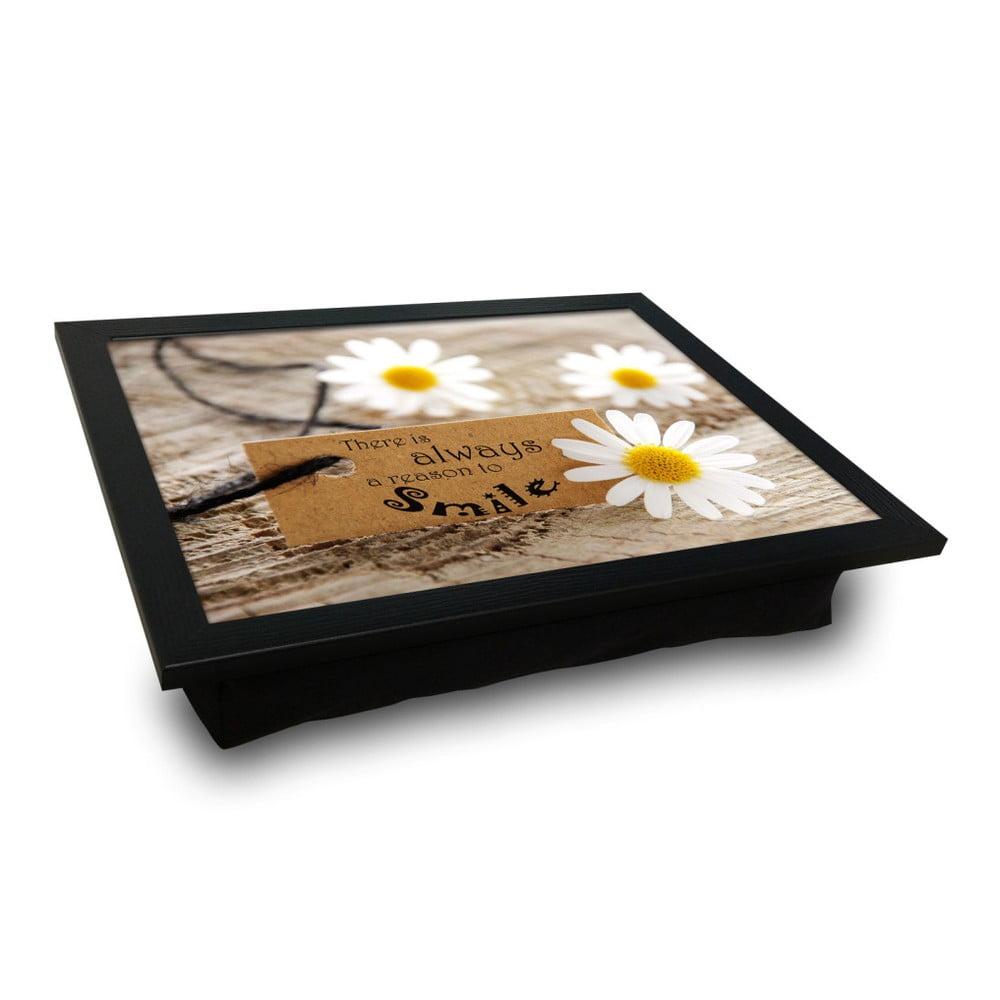 Servírovací podnos s vankúšom na spodnej strane Flower, 36 × 46 cm