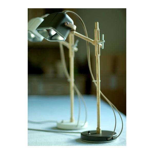 Stolná lampa Mob Wood, šedá