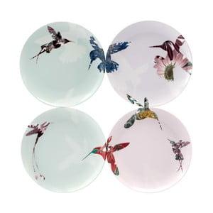 Sada 4 porcelánových tanierov Flutter, 21 cm