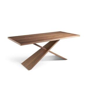 Masívny jedálenský stôl z orechového dreva Ángel Cerdá Cayo, 95 × 200 cm