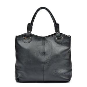 Čierna kožená kabelka Luisa Vannino Ashley
