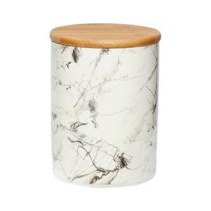 Biela porcelánová dóza Hübsch Marble, výška 19 cm