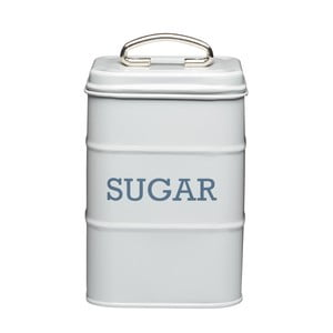 Plechová dóza na cukor Kitchencraft Nostalgia, svetlosivá