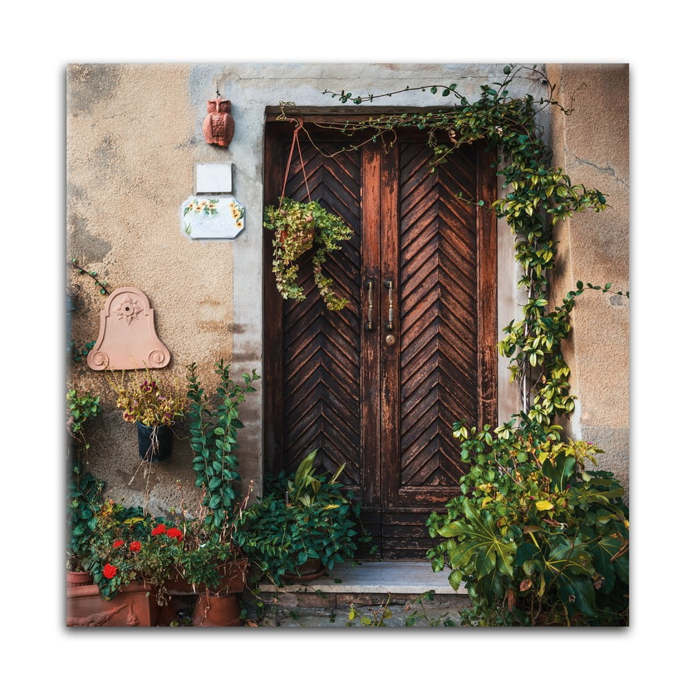 Obraz Styler Glas Destination Wooden, 30 × 30 cm