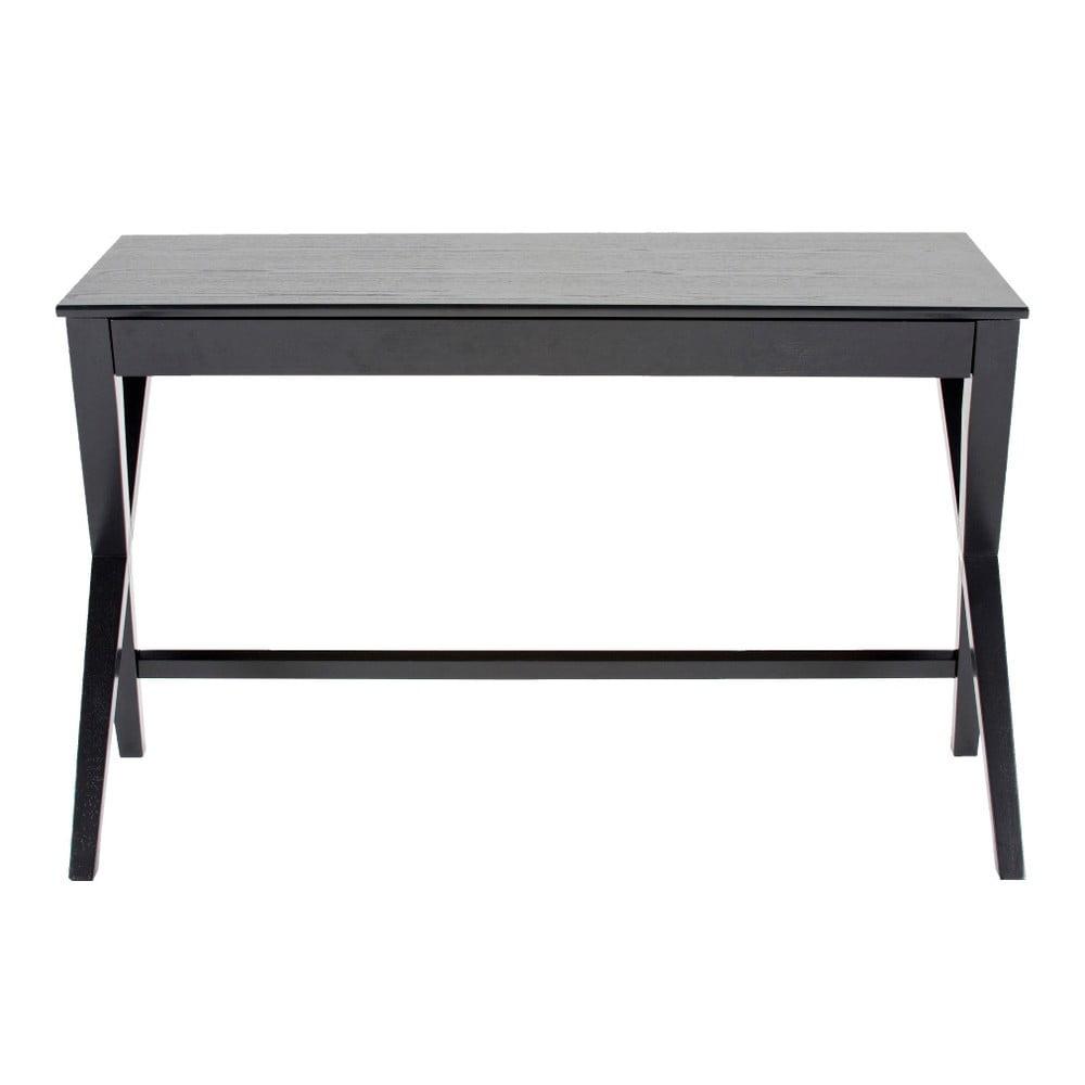 Čierny písací stôl so zásuvkou Actona Writex
