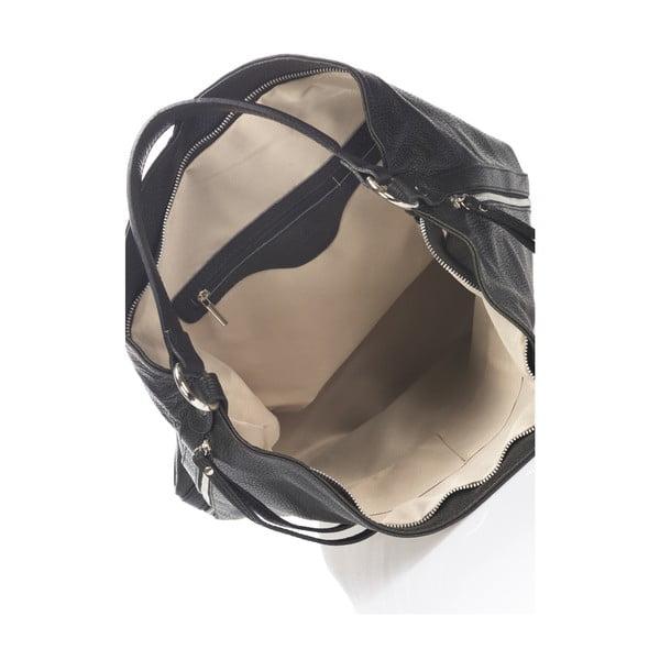 Kožená kabelka Krole Karla, čierna