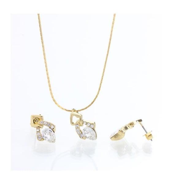 Set náhrdelníku a náušníc Laura Bruni Classy Crystal