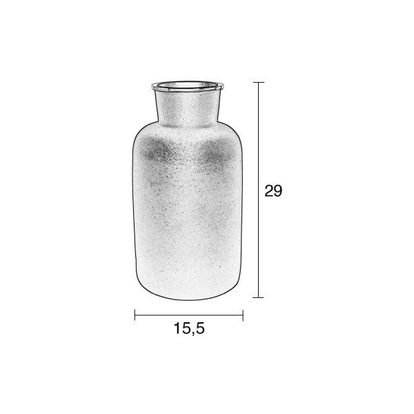 Čierna hliníková váza Zuiver Farma, výška 29 cm