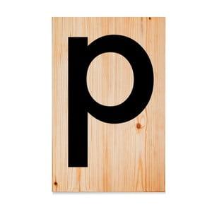 Drevená ceduľa Letters P