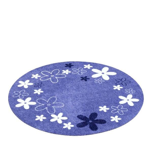 Detský fialový koberec Hanse Home Kvety, ⌀100cm