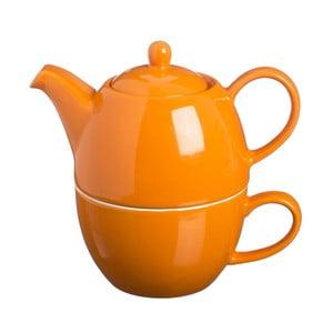 Čajová kanvica s hrnčekom čaju One Bright Orange, 400 ml