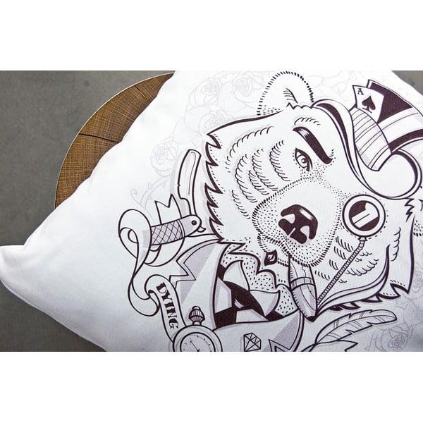 Obliečka na vankúš Bear Dying Breed, 45x45 cm