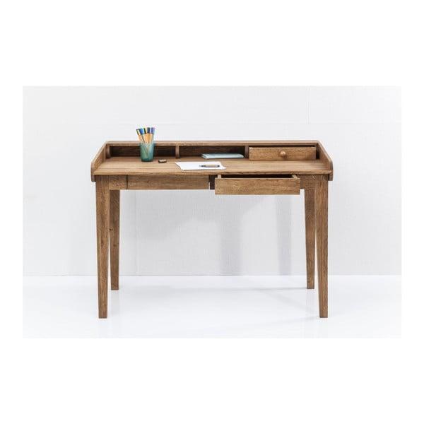 Pracovný stôl z masívneho dubového dreva Kare Design Attento