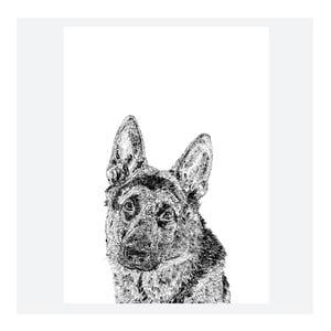 Plagát Roger the German Shepherd, 30x40 cm