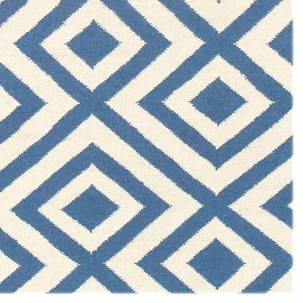 Vlnený koberec Luisa Middle Blue, 180x120 cm
