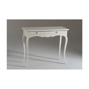 Biely drevený konzolový stolík s 2 zásuvkami Castagnetti Firenze