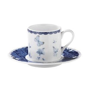 Sada 6 porcelánových šálok s tanierikom Kutahya Floral, 50 ml