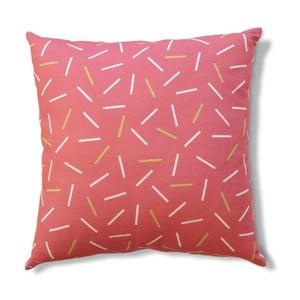 Vankúš s výplňou Matches Pink, 45x45 cm