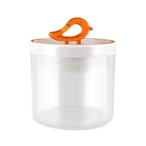 Oranžová dóza Vialli Design Livio, 0,4 l