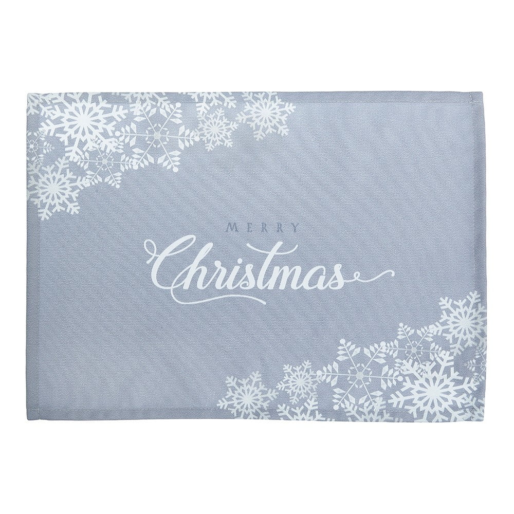 Sada 2 sivých prestieraní Apolena Honey Christmas, 33 × 45 cm