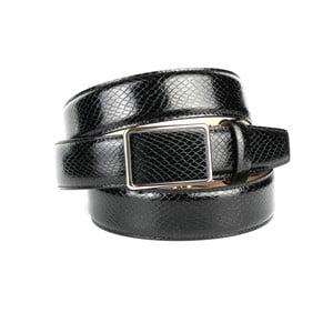 Pánsky kožený opasok 17SN10S Black, 90 cm