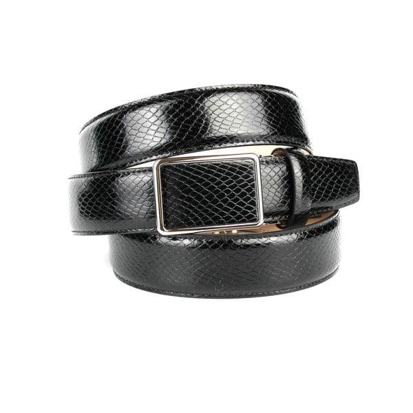 Pánsky kožený opasok 17SN10S Black, 100 cm
