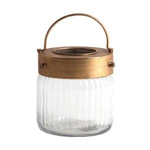 Lampáš zo skla a železa Last Deco, výška 16,5 cm