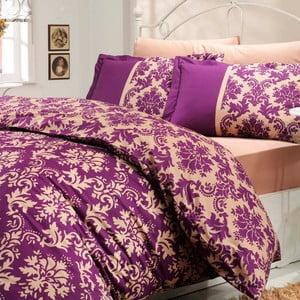 Obliečky s plachtou Avantgarde, 160x220 cm, fialové