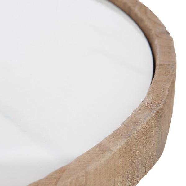 Drevený odkladací stolík s bielymi detailmi J-line Cer, 43cm
