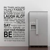 Samolepka na stenu About Family, 70x50 cm