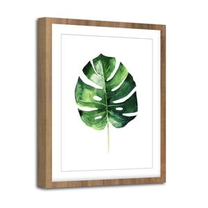 Obraz Styler Modernpik Greenery Wooden Monstera, 30 × 40 cm