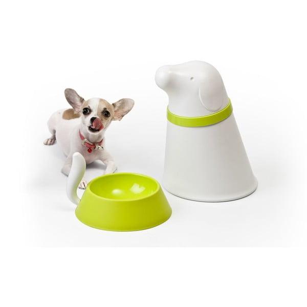 Miska so zásobníkom pre psov QUALY Pupp, biela