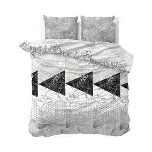 Sivé obliečky Sleeptime Marble Art, 240×220 cm
