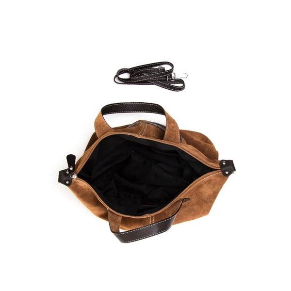 Kožená kabelka Luisa Vannini 895 Cognac